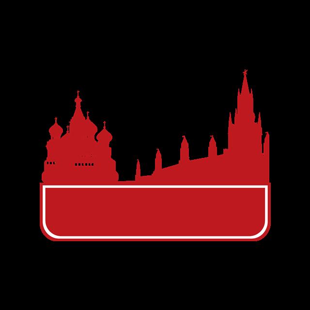 红色城市建筑矢量图
