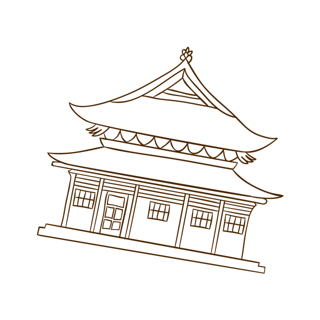 手绘宫殿图片