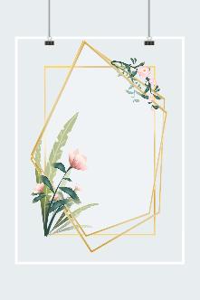 花草金丝框