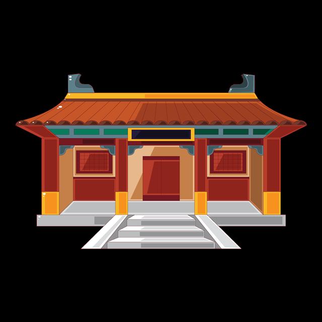 古代宫殿矢量图