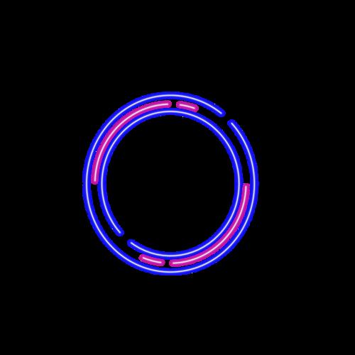 霓虹灯线条边框
