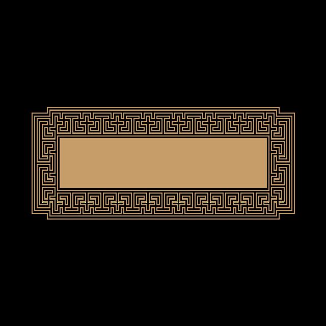 矩形烫金边框