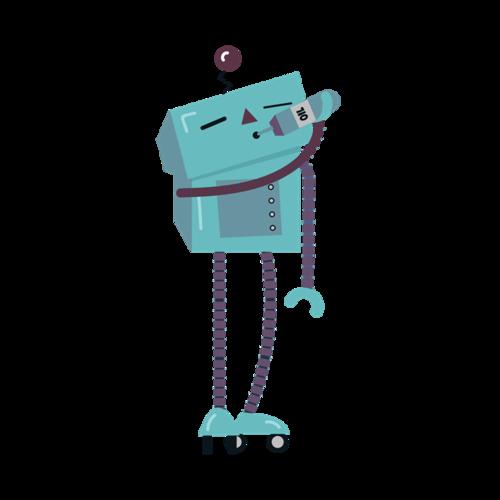 唱歌机器人图片