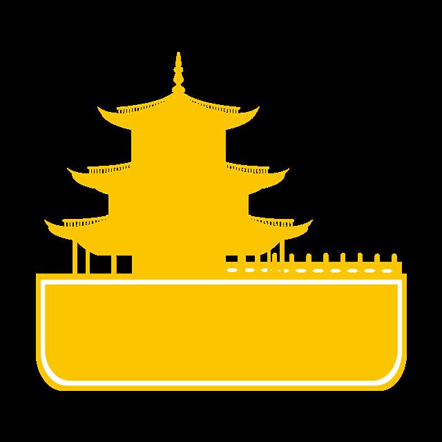泰国曼谷城市地标矢量图