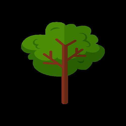 绿色大树矢量图