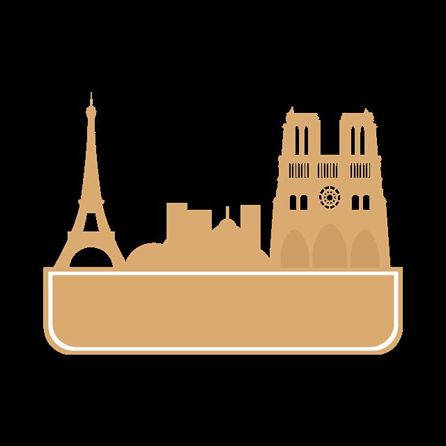 巴黎名胜景点矢量图