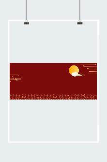 中国风中秋底纹背景