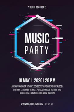 国际音乐节创意海报