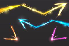 光效箭头矢量图