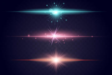 彩色光效分割线矢量图