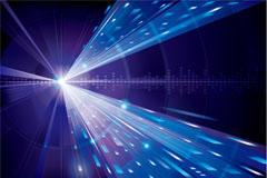 蓝色光效科技背景图片