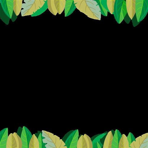 树叶边框背景图