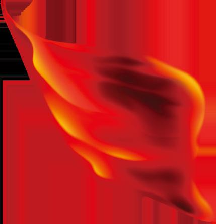 红色绸带矢量图