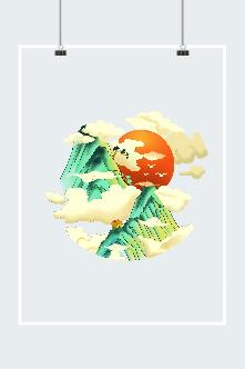 红日祥云图片