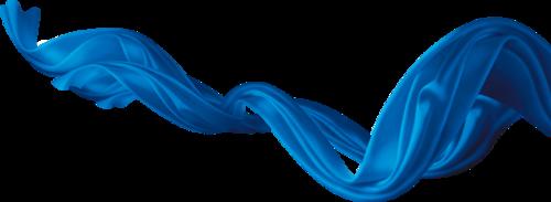 蓝色漂浮丝带