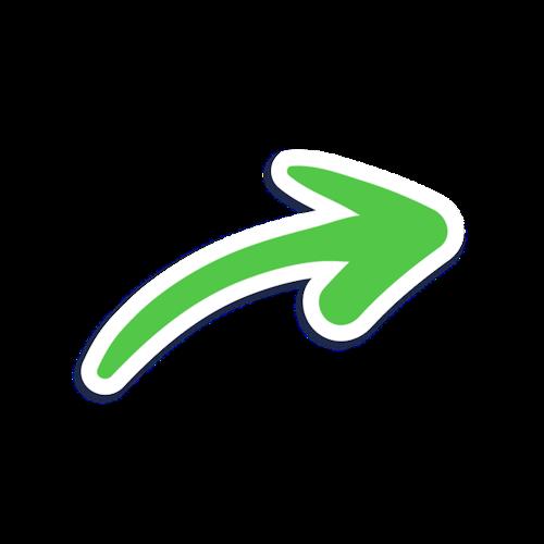 绿色箭头元素