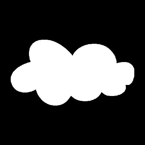 云朵边框矢量图
