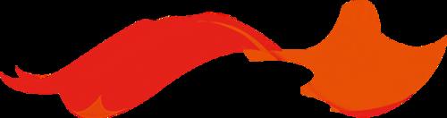 红色飘带设计元素