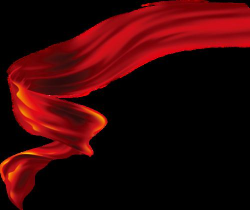 国庆节红色飘带矢量图