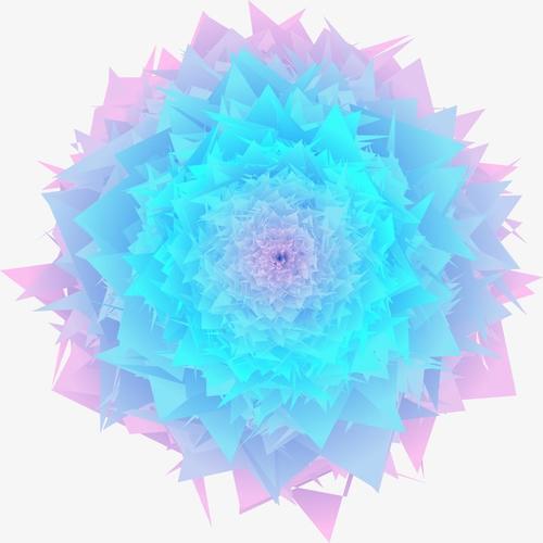 唯美蓝莲花装饰图案