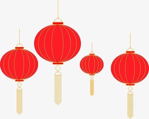 扁平化简约春节灯笼图片