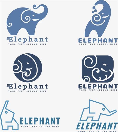 创意大象logo图标