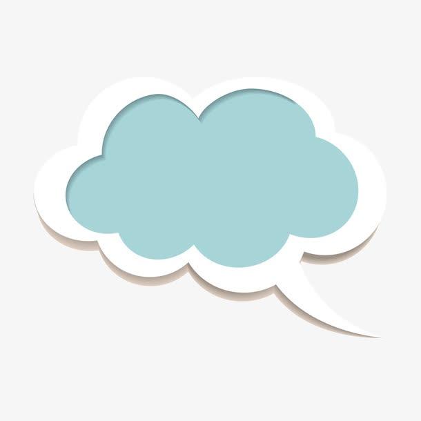 简约云朵贴纸装饰图案
