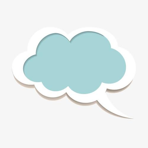簡約云朵貼紙裝飾圖案