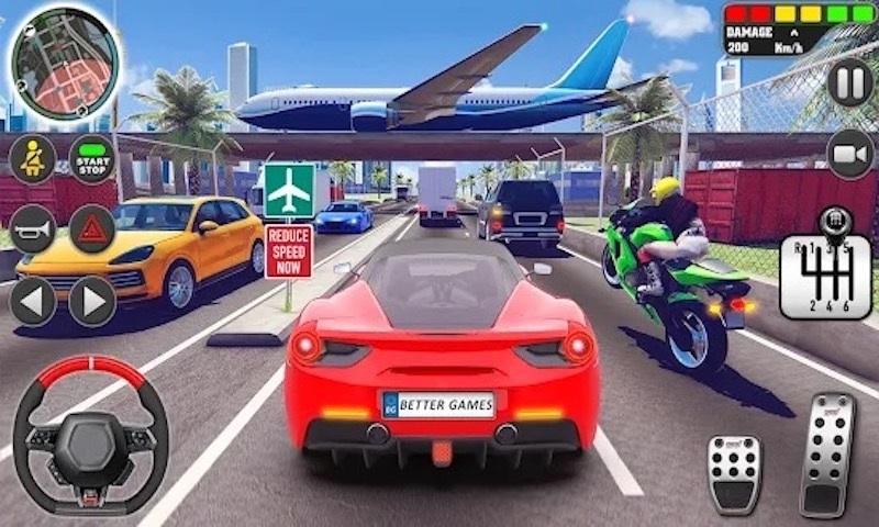 豪车自由驾驶的游戏